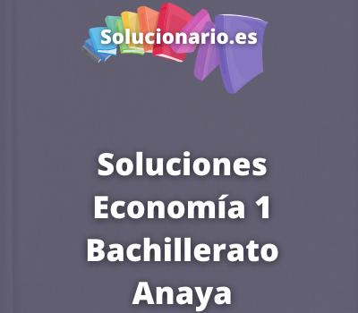 Soluciones Economía 1 Bachillerato Anaya