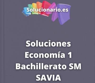 Soluciones Economía 1 Bachillerato SM SAVIA