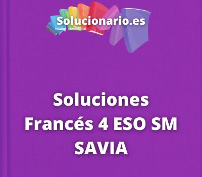 Soluciones Francés 4 ESO SM SAVIA