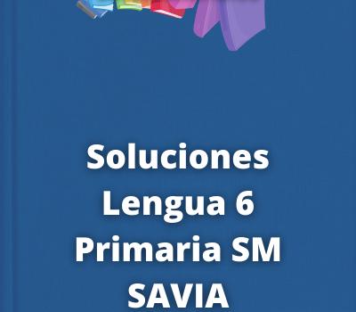 Soluciones Lengua 6 Primaria SM SAVIA