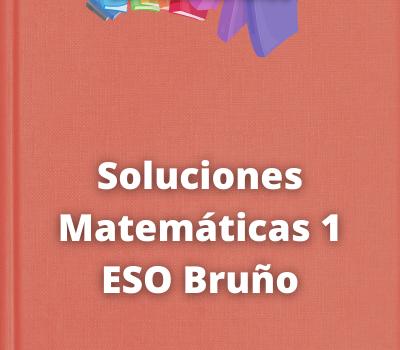 Soluciones Matemáticas 1 ESO Bruño