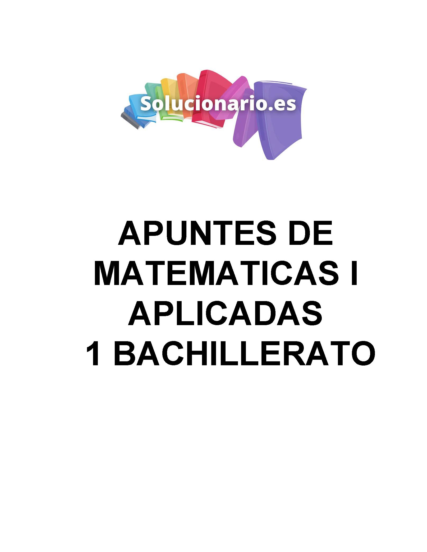 Apuntes Matemáticas Álgebra 1 Bachillerato de Sociales 2020 / 2021