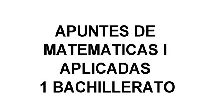 Apuntes Matemáticas Sucesiones 1 Bachillerato de Sociales 2020 / 2021