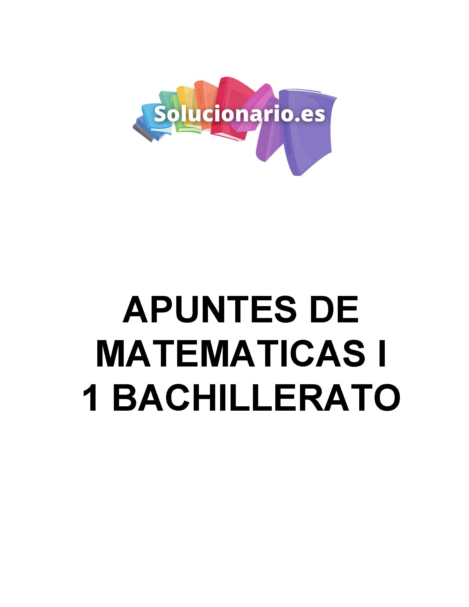 Apuntes Matemáticas Académicas Análisis 1 Bachillerato 2020 / 2021
