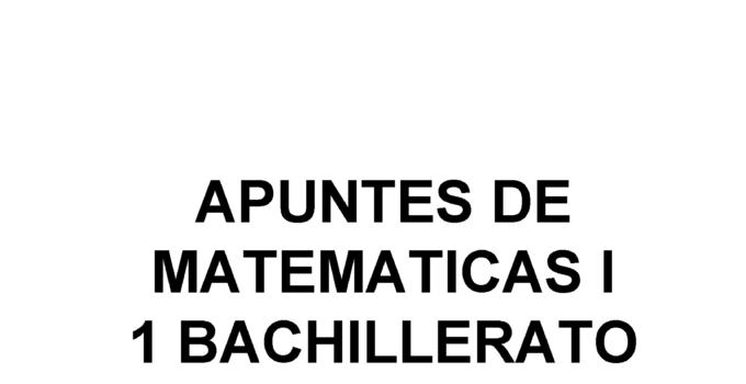 Apuntes Matemáticas Académicas Aritmética 1 Bachillerato 2020 / 2021