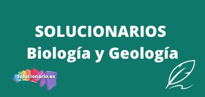 Solucionarios de 3 de la ESO Biología y Geología