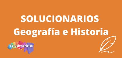 Solucionarios de 1 de la ESO Geografía e Historia