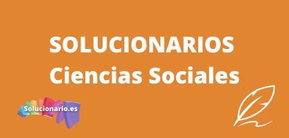 Solucionarios de 4 de Primaria Ciencias Sociales