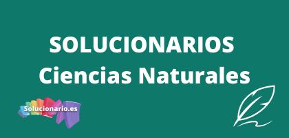 Solucionarios de 3 de Primaria Ciencias Naturales