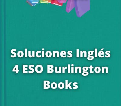 Soluciones Inglés 4 ESO Burlington Books