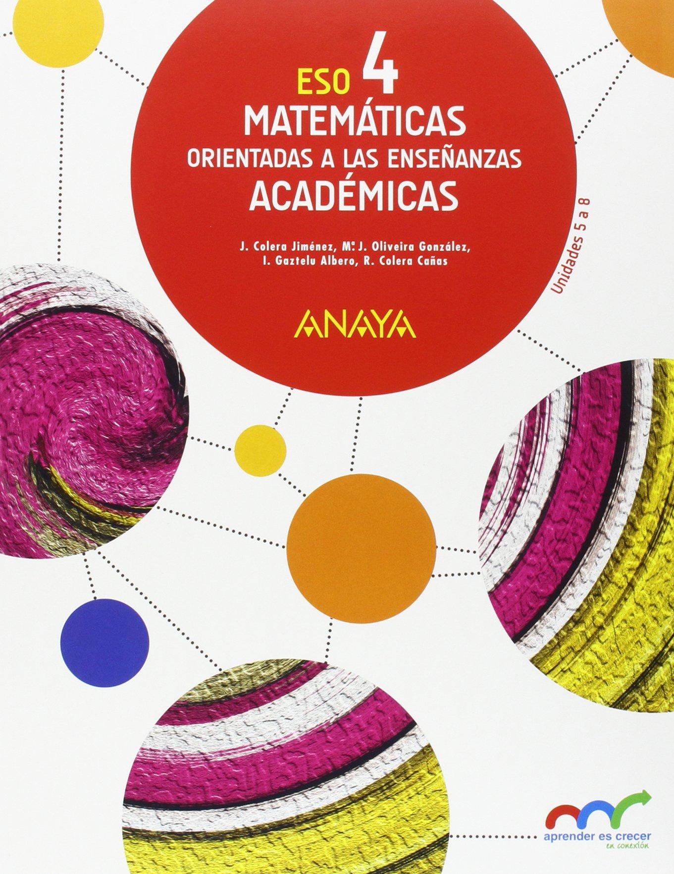 Matemáticas 4 ESO Anaya Soluciones 2020 / 2021