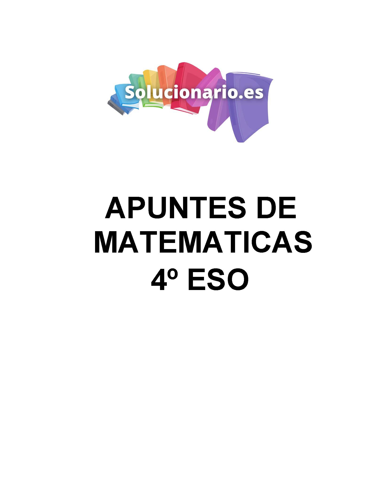 Apuntes Matemáticas Inecuaciones 4 ESO 2020 / 2021