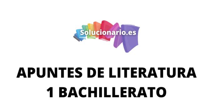 Apuntes Literatura de Cervantes y el Quijote 1 Bachillerato 2020 / 2021