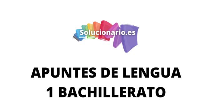 Apuntes Lengua Sintaxis 1 Bachillerato 2020 / 2021