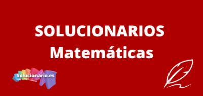 Solucionarios de 6 de Primaria Matemáticas