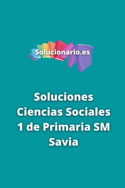 Ciencias Sociales 1 Primaria SM Savia
