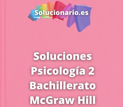Soluciones Psicología 2 Bachillerato McGraw Hill