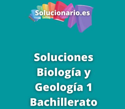 Biología y Geología 1 Bachillerato Editex