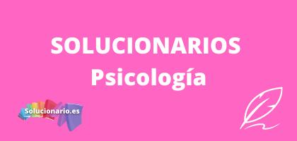 Solucionarios de 2 Psicología
