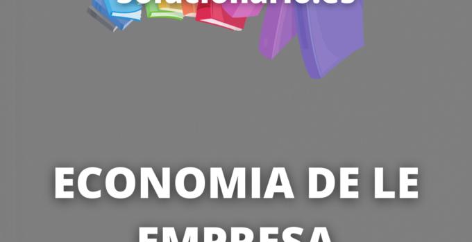Solucionario Economía de la Empresa